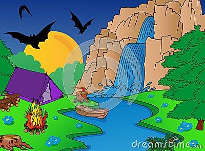 Camping and falls