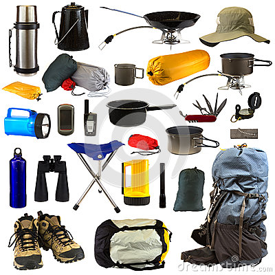 Free Camping Gear Royalty Free Stock Photo - 25173485