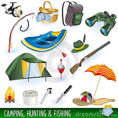 Free Camping, Hunting And Fishing Stock Photography - 17453342