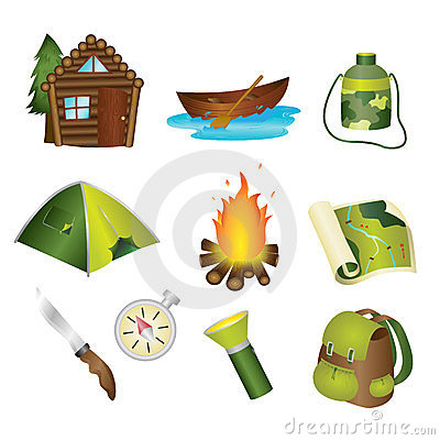 Free Camping Icons Royalty Free Stock Image - 23451446