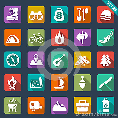 Free Camping Icons Stock Photography - 34413322