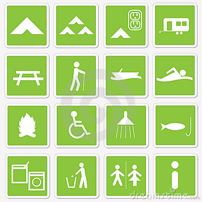 Free Camping Icons Royalty Free Stock Photography - 8007337