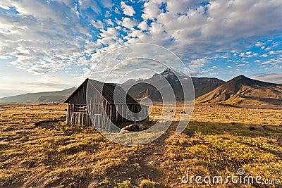 Camping on Kamchatka.