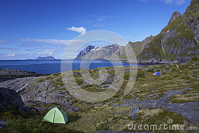 Camping on Lofoten