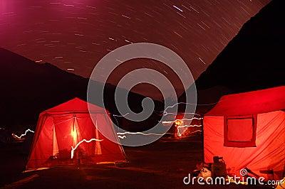 Camping night scene