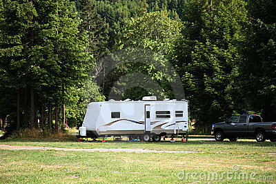 Camping with RV Trailer