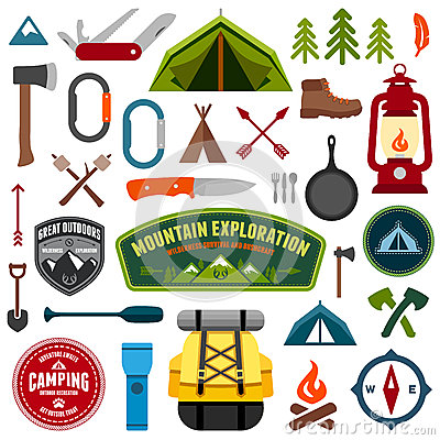 Free Camping Symbols Royalty Free Stock Photos - 29530748