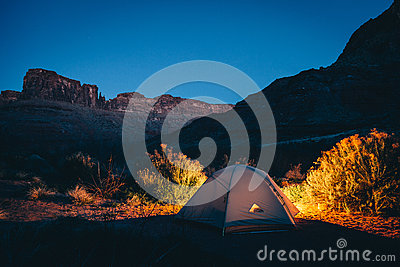 Camping Tent Of Dessert Under Deep Blue Sky Free Public Domain Cc0 Image