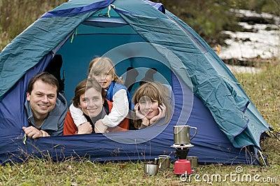 Campingowy rodzinny namiot