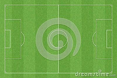 Campo de futebol com medidas padrão