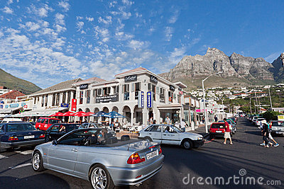 Camps Bay Beach Cape Town Editorial Image