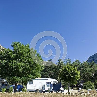 Campsite, campground