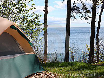 Campsite on Lake Superior