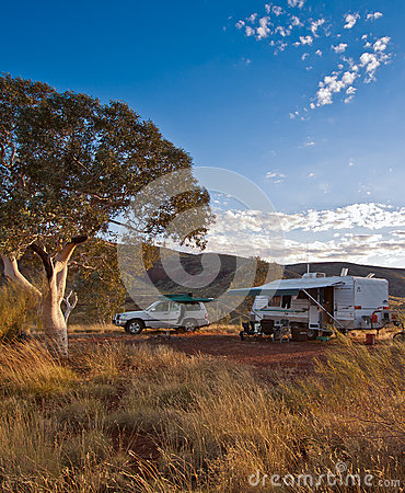 Campsite in the Outback