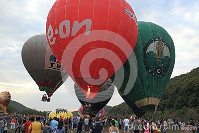 Campu Cetatii Hot Air Balloons Parade Editorial Stock Image