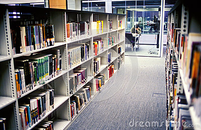 Campus library Editorial Stock Image