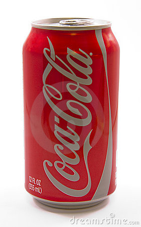 Can of Coca Cola Editorial Stock Photo