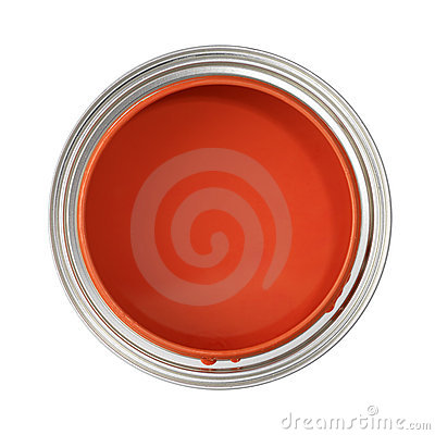 Free Can Filled With Red Paint Royalty Free Stock Images - 3541209
