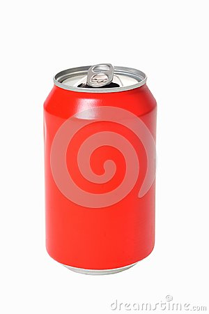 Free Can Of Red Drink On White Background Royalty Free Stock Photo - 121124345