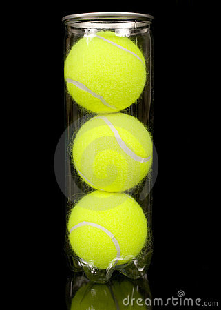 Free Can Of Three New Tennis Balls Stock Image - 23846151