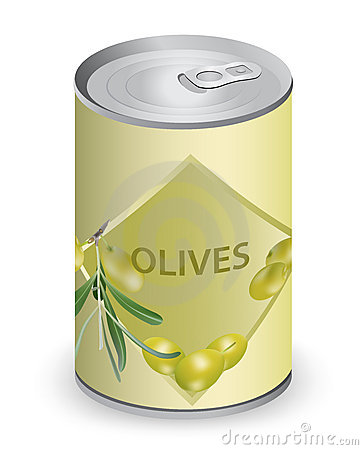Can with olives.