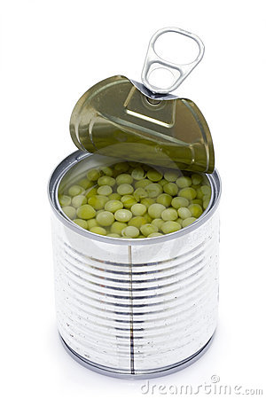Can Of Peas Stock Images - Image: 12970684