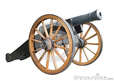 Cañón viejo de la artillería