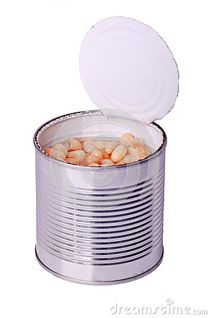 Can With White Beans Stock Photos - Image: 26812723