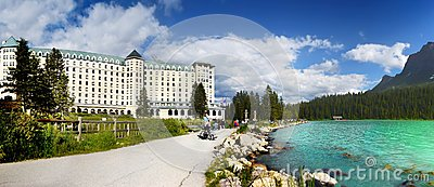 Canada, Banff National Park, Lake Louise, Panorama