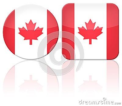 Canada button flag