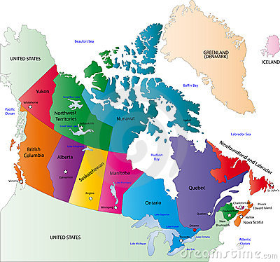 Canada color map