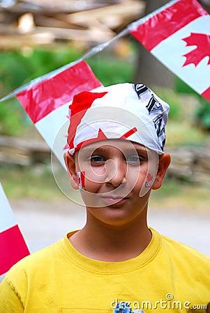 Canada Day Child