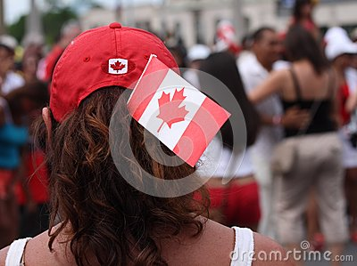 Canada Day Flag and Hat Editorial Photo