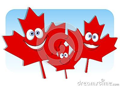 Canada Day Maple Leaf Family
