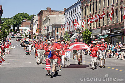 Canada Day Parade Editorial Stock Photo