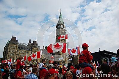 Canada Day in Parliament Hill, Ottawa Editorial Stock Image