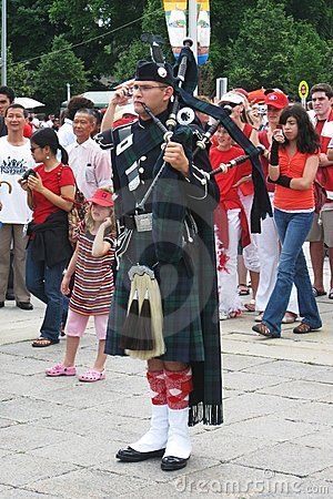Canada Day Piper, in Ottawa Editorial Stock Image