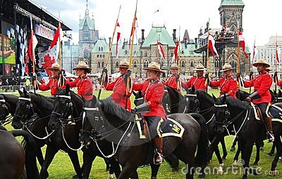 Canada Day RCMP riding horses in Ottawa Editorial Image