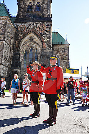 Canada Day RCMP solute Editorial Stock Photo