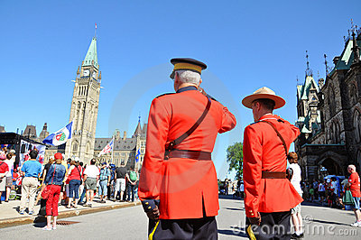 Canada Day RCMP solute Editorial Photography