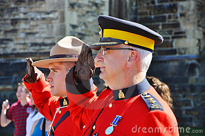 Canada Day RCMP solute Editorial Photo