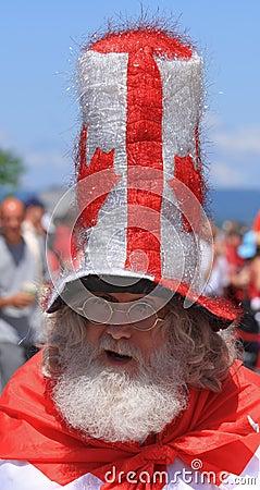 Canada Day Santa Editorial Photo