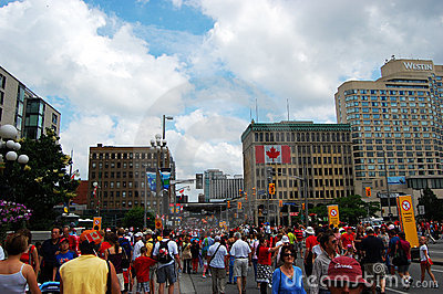 Canada Day in Wellington Street Editorial Photo