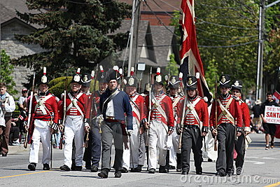 Canada Flag Day Parade Battle of Stoney Creek Editorial Image