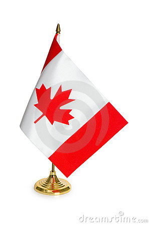 Canada flag isolated on white