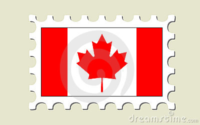 Canada Flag Postage Stamp