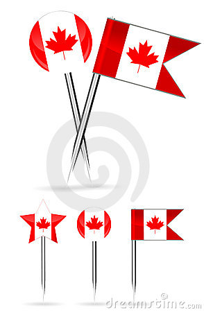 Canada flag and round pin