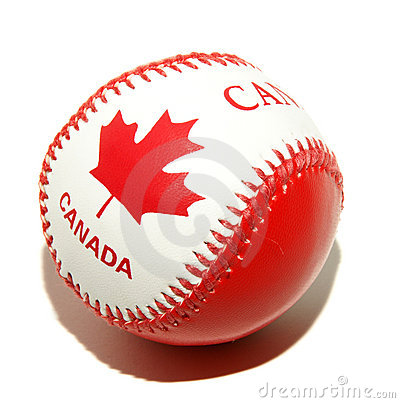 Canada flag texture on ball