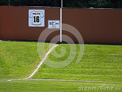 Canada games baseball outfield hill fence Editorial Photo