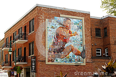 Canada games mural mosaic art Editorial Stock Photo